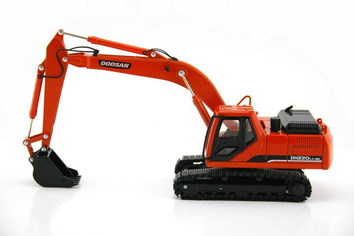 1:40 DOOSAN DH220 Hydraulic Excavator toy, (Scale Model Truck, Construction vehicles Scale Model, Alloy Toy Car, Diecast Scale Model Car, Collectible Model Car, Miniature Collection Die cast Toy Vehicles Gifts).