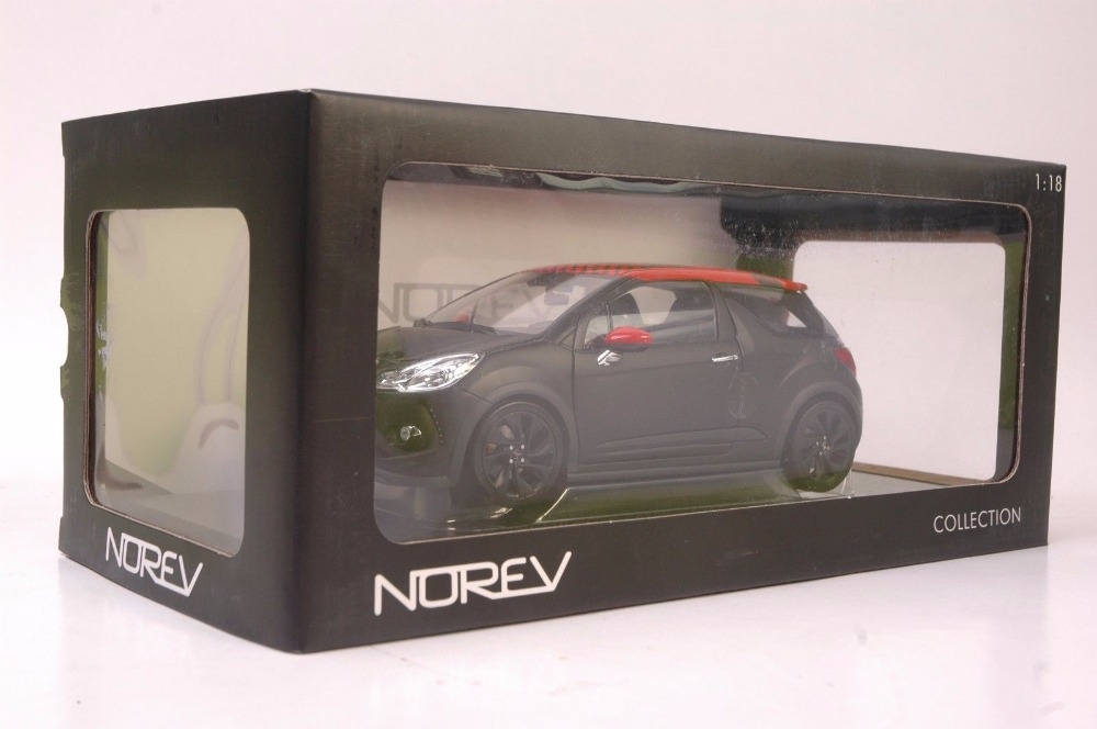 1:18 Diecast Model for Citroen DS3 Racing 2010 Red Roof Alloy Toy Car Miniature Collection Gift (Alloy Toy Car, Diecast Scale Model Car, Collectible Model Car, Miniature Collection Die-cast Toy Vehicles Gifts)