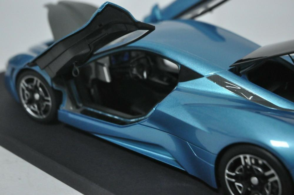 1:18 Diecast Model for ARCFOX-GT 2019 Blue Sport Car Alloy Toy Car Miniature Collection Gifts BAIC ARCFOX GT