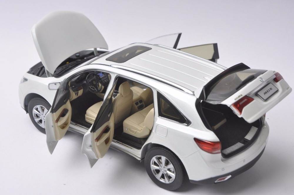 1:18 Diecast Model for Acura MDX 2016 White Luxury SUV Alloy Toy Car Miniature Collection Gifts (Alloy Toy Car, Diecast Scale Model Car, Collectible Model Car, Miniature Collection Die-cast Toy Vehicles Gifts)