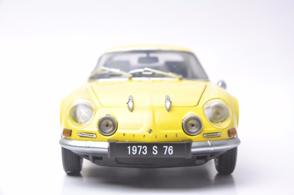 1:18 Diecast Model for Alpine Renault A110 1600S 1973 Yellow Coupe Alloy Toy Car Miniature Collection Gifts (Alloy Toy Car, Diecast Scale Model Car, Collectible Model Car, Miniature Collection Die-cast Toy Vehicles Gifts)