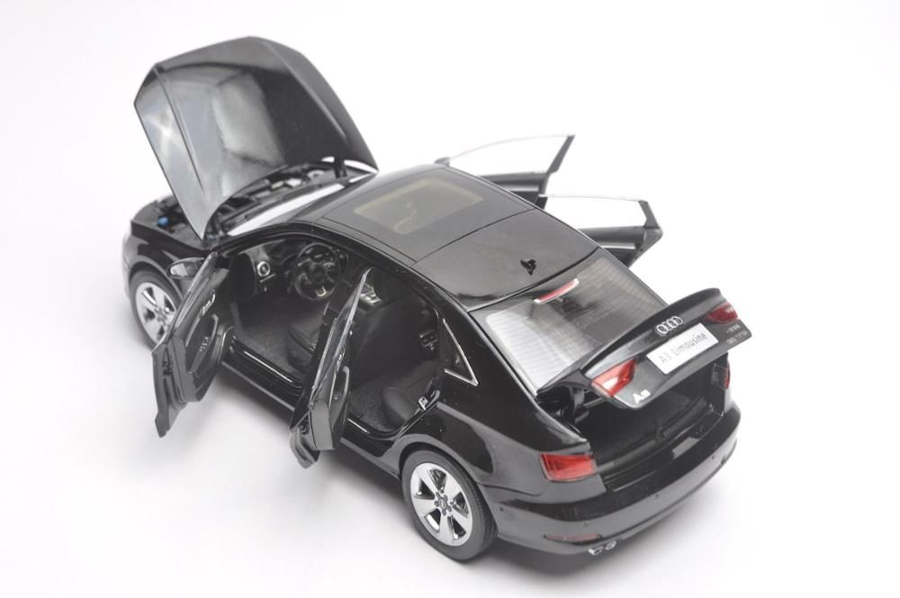 1:18 Diecast Model for Audi A3 Limousine 2010 Black Sedan Alloy Toy Car Miniature Collection Gift S3 (Alloy Toy Car, Diecast Scale Model Car, Collectible Model Car, Miniature Collection Die-cast Toy Vehicles Gifts)