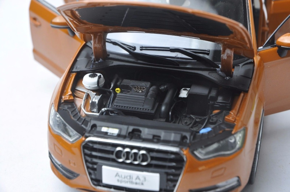 1:18 Diecast Model for Audi A3 Sportback Orange SUV Alloy Toy Car Miniature Collection Gift S3 (Alloy Toy Car, Diecast Scale Model Car, Collectible Model Car, Miniature Collection Die-cast Toy Vehicles Gifts)