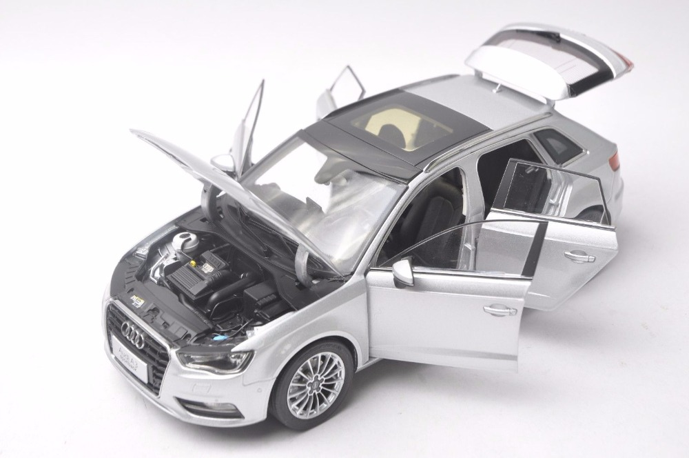 1:18 Diecast Model for Audi A3 Sportback Silver SUV Alloy Toy Car Miniature Collection Gift S3 (Alloy Toy Car, Diecast Scale Model Car, Collectible Model Car, Miniature Collection Die-cast Toy Vehicles Gifts)