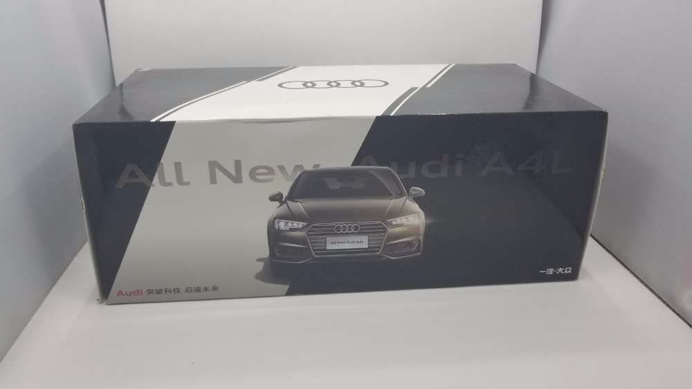 1:18 Diecast Model for Audi A4L 2017 Gold Alloy Toy Car Miniature Collection Gifts A4 S4 (Alloy Toy Car, Diecast Scale Model Car, Collectible Model Car, Miniature Collection Die-cast Toy Vehicles Gifts)