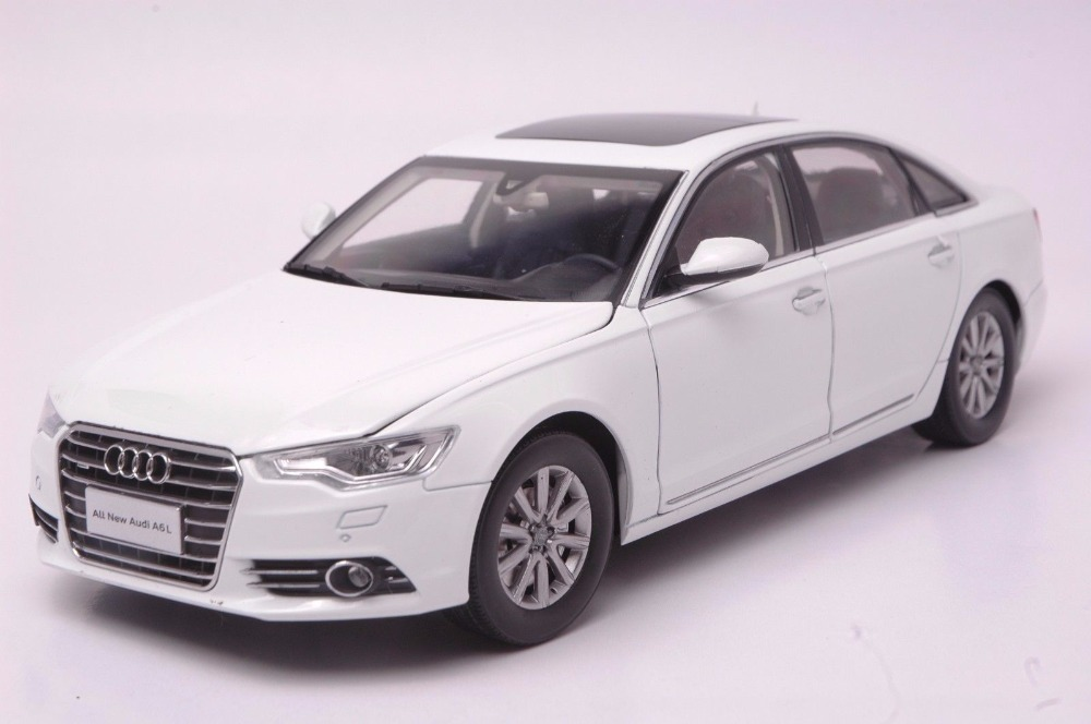 1:18 Diecast Model for Audi A6L 2012 White Sedan Alloy Toy Car Miniature Collection Gifts A6 S6 (Alloy Toy Car, Diecast Scale Model Car, Collectible Model Car, Miniature Collection Die-cast Toy Vehicles Gifts)