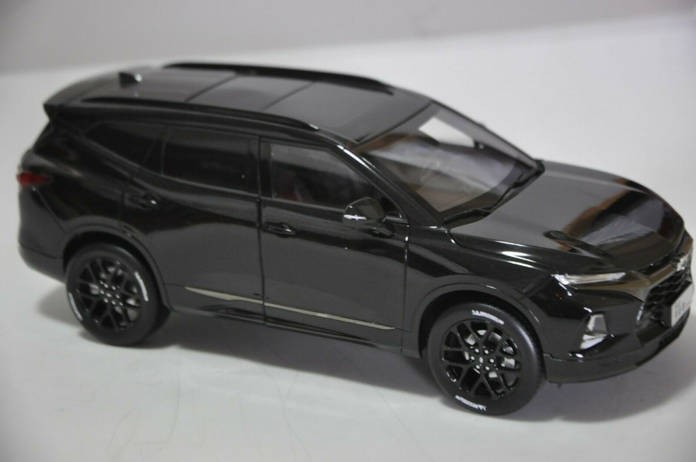 1:18 Diecast Model for Cherolet Chevy Blazer RS 2020 Black SUV Alloy Toy Car Miniature Collection Gifts Trailblazer (Alloy Toy Car, Diecast Scale Model Car, Collectible Model Car, Miniature Collection Die-cast Toy Vehicles Gifts)