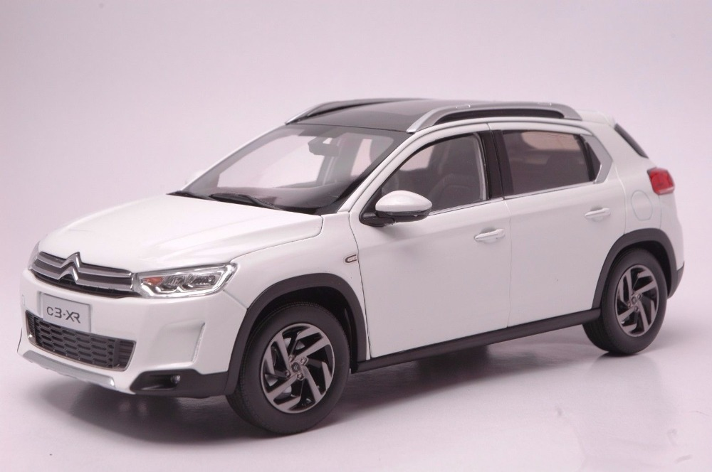 1:18 Diecast Model for Citroen C3-XR White SUV Alloy Toy Car Miniature Collection Gift C3 (Alloy Toy Car, Diecast Scale Model Car, Collectible Model Car, Miniature Collection Die-cast Toy Vehicles Gifts)
