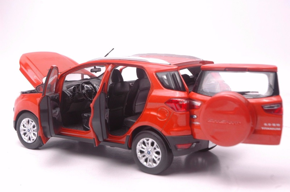 1:18 Diecast Model for Ford ECOSPORT 2015 Orange Mini SUV Alloy Toy Car Miniature Collection Gifts (Alloy Toy Car, Diecast Scale Model Car, Collectible Model Car, Miniature Collection Die-cast Toy Vehicles Gifts)