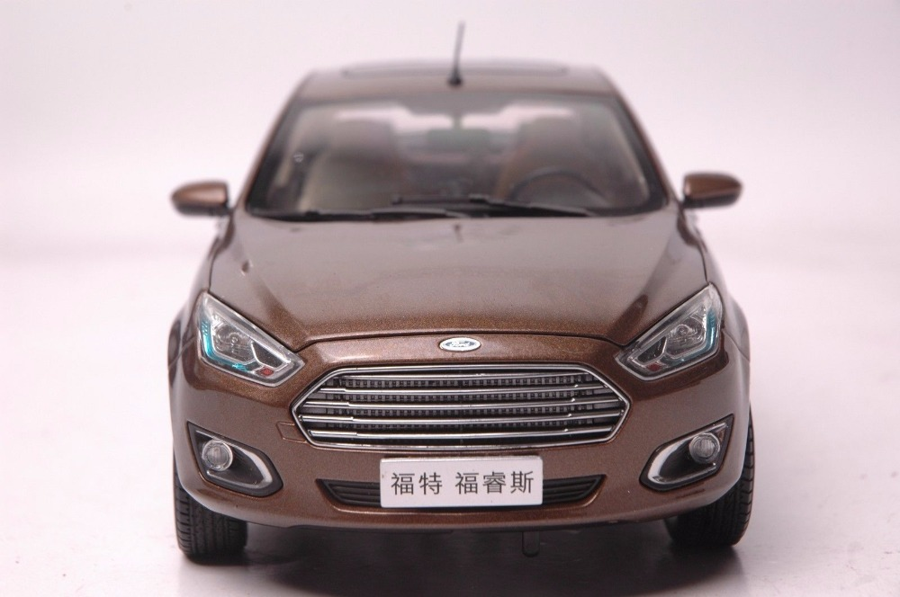 1:18 Diecast Model for Ford ESCORT 2015 Brown Sedan Alloy Toy Car Miniature Collection Gifts Explore ASPIRE (Alloy Toy Car, Diecast Scale Model Car, Collectible Model Car, Miniature Collection Die-cast Toy Vehicles Gifts)