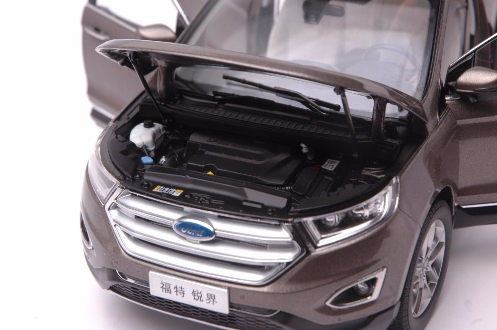 1:18 Diecast Model for Ford Edge 2016 Brown SUV Alloy Toy Car Miniature Collection Gift (Alloy Toy Car, Diecast Scale Model Car, Collectible Model Car, Miniature Collection Die-cast Toy Vehicles Gifts)