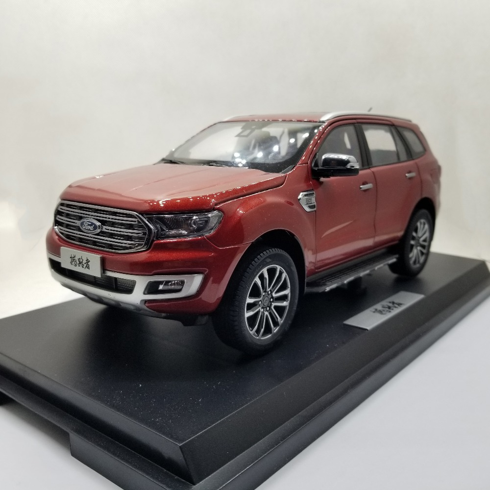 1:18 Diecast Model for Ford Everest Endeavour 2019 Red SUV Alloy Toy Car Miniature Collection Gift Form Ranger