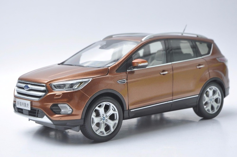 1:18 Diecast Model for Ford Kuga Escape 2017 Brown SUV Alloy Toy Car Miniature Collection Gifts (Alloy Toy Car, Diecast Scale Model Car, Collectible Model Car, Miniature Collection Die-cast Toy Vehicles Gifts)