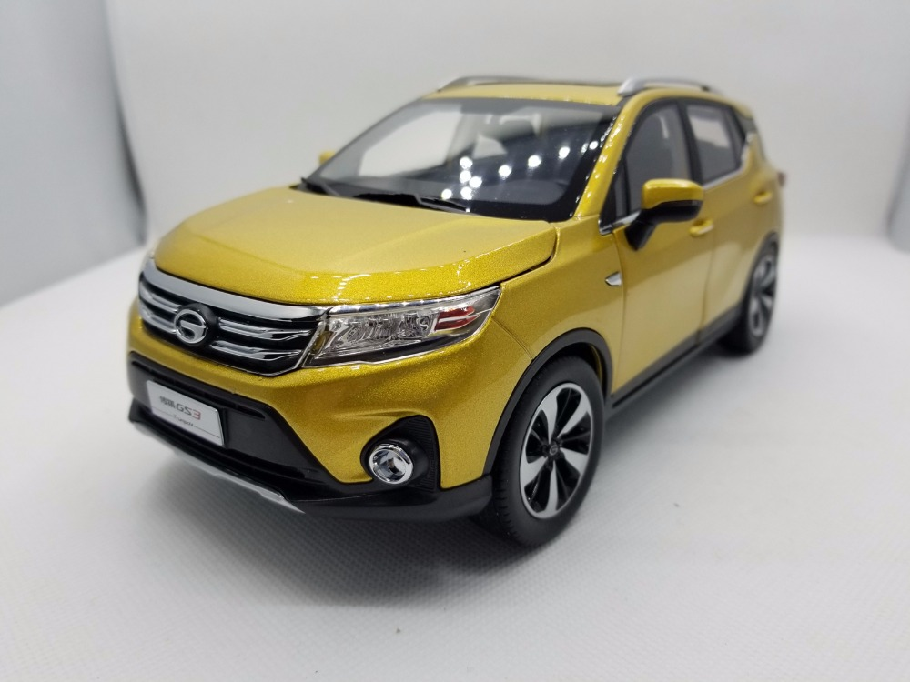 1:18 Diecast Model for GAC Trumpchi GS3 2017 Gold SUV Alloy Toy Car Miniature Collection Gifts China Brand (Alloy Toy Car, Diecast Scale Model Car, Collectible Model Car, Miniature Collection Die-cast Toy Vehicles Gifts)
