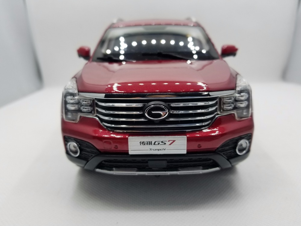 1:18 Diecast Model for GAC Trumpchi GS7 2017 Red SUV Alloy Toy Car Miniature Collection Gifts China Brand (Alloy Toy Car, Diecast Scale Model Car, Collectible Model Car, Miniature Collection Die-cast Toy Vehicles Gifts)