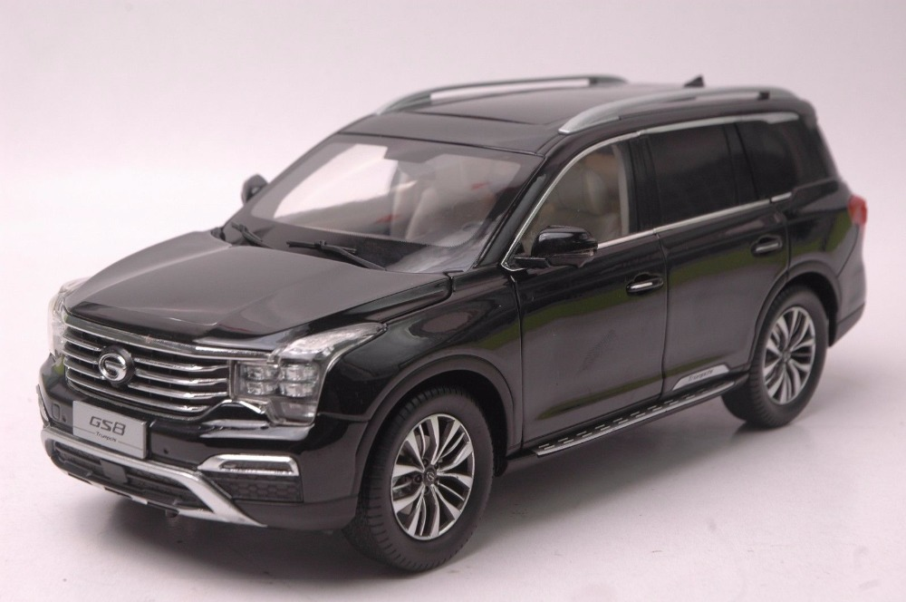 1:18 Diecast Model for GAC Trumpchi GS8 2016 Black SUV Alloy Toy Car Miniature Collection Gifts China Brand (Alloy Toy Car, Diecast Scale Model Car, Collectible Model Car, Miniature Collection Die-cast Toy Vehicles Gifts)