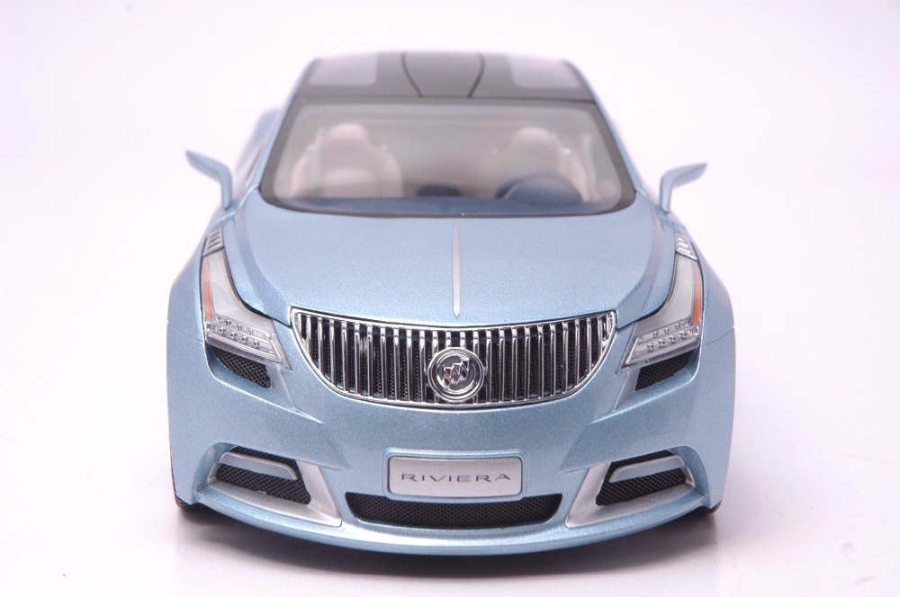 1:18 Diecast Model for GM Buick Riviera 2009 Blue Concept Alloy Toy Car Miniature Collection Gift (Alloy Toy Car, Diecast Scale Model Car, Collectible Model Car, Miniature Collection Die-cast Toy Vehicles Gifts)