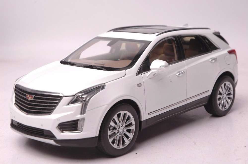 1:18 Diecast Model for GM Cadillac XT5 White SUV Alloy Toy Car Miniature Collection Gifts ATS (Alloy Toy Car, Diecast Scale Model Car, Collectible Model Car, Miniature Collection Die-cast Toy Vehicles Gifts)