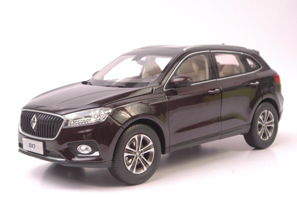 1:18 Diecast Model for Germany BORGWARD BX7 Brown SUV Alloy Toy Car Miniature Collection Gifts BORG WARD (Alloy Toy Car, Diecast Scale Model Car, Collectible Model Car, Miniature Collection Die-cast Toy Vehicles Gifts)