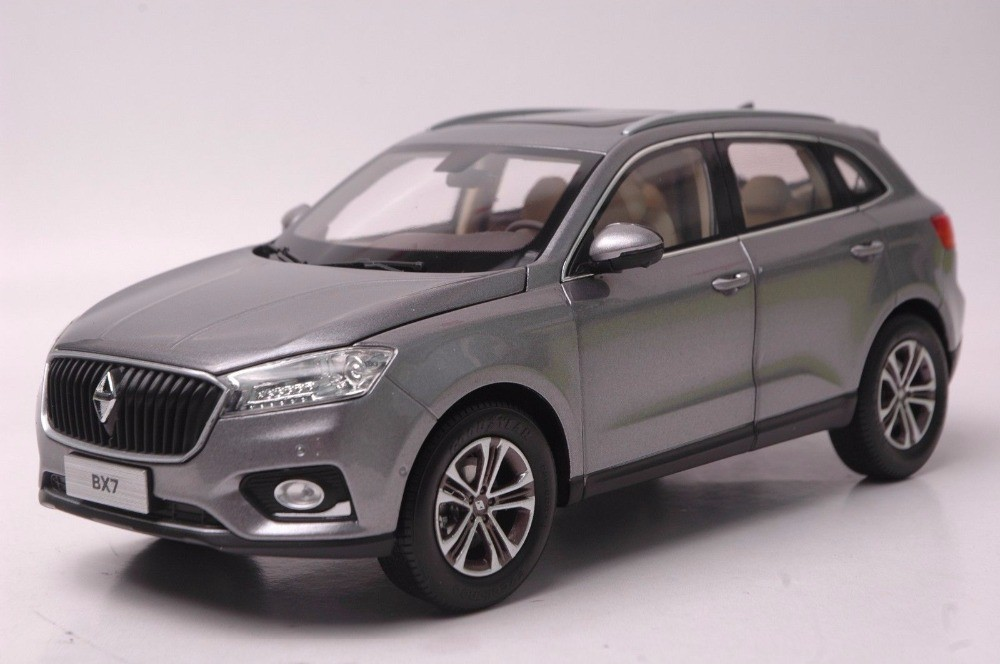 1:18 Diecast Model for Germany BORGWARD BX7 Silver SUV Alloy Toy Car Miniature Collection Gifts BORG WARD (Alloy Toy Car, Diecast Scale Model Car, Collectible Model Car, Miniature Collection Die-cast Toy Vehicles Gifts)