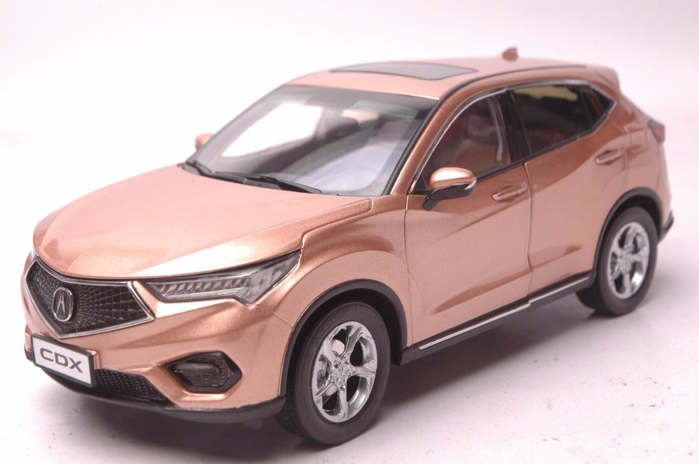 1:18 Diecast Model for Honda Acura CDX 2016 Gold SUV Alloy Toy Car Miniature Collection Gifts (Alloy Toy Car, Diecast Scale Model Car, Collectible Model Car, Miniature Collection Die-cast Toy Vehicles Gifts)