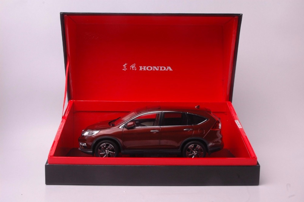 1:18 Diecast Model for Honda CR-V 2015 SUV Brown Rare Alloy Toy Car Miniature Collection Gifts CRV CR V (Alloy Toy Car, Diecast Scale Model Car, Collectible Model Car, Miniature Collection Die-cast Toy Vehicles Gifts)