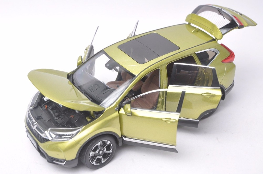 1:18 Diecast Model for Honda CR-V 2017 Green SUV Alloy Toy Car Miniature Collection Gifts CRV CR V (Alloy Toy Car, Diecast Scale Model Car, Collectible Model Car, Miniature Collection Die-cast Toy Vehicles Gifts)