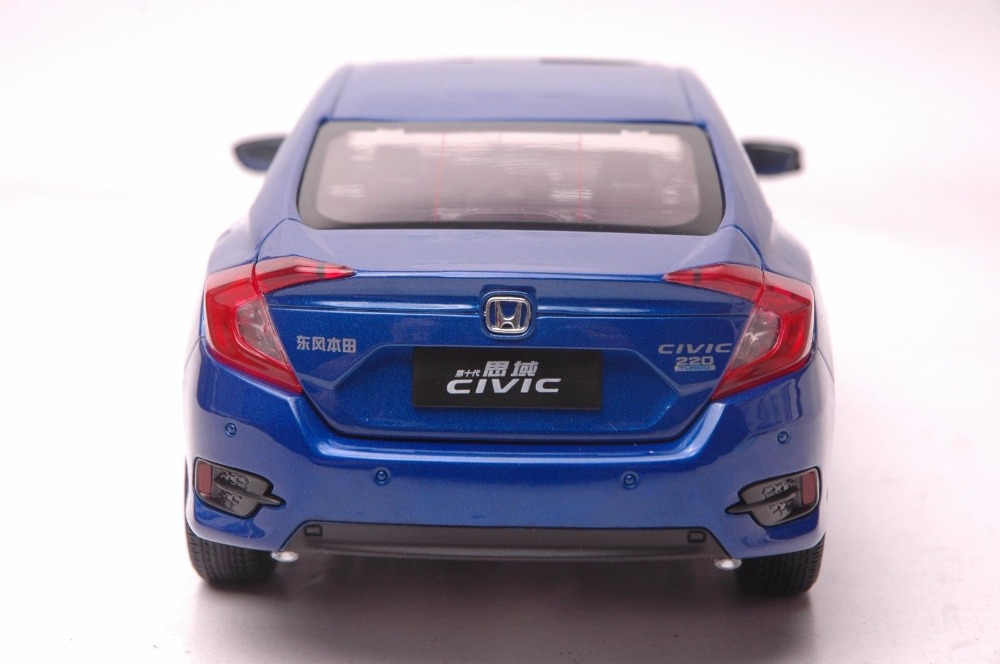 1:18 Diecast Model for Honda Civic 2016 MK10 Blue Sedan Alloy Toy Car Miniature Collection Gifts (Alloy Toy Car, Diecast Scale Model Car, Collectible Model Car, Miniature Collection Die-cast Toy Vehicles Gifts)