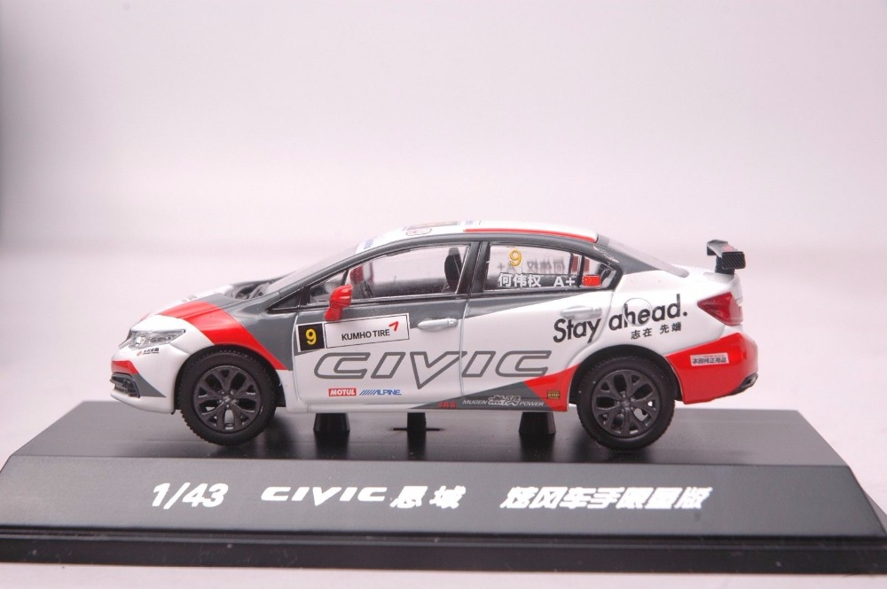 1:43 Diecast Model for Honda Civic Racing Car 2014 MK9 White Alloy Toy Car Miniature Collection Gifts  (Alloy Toy Car, Diecast Scale Model Car, Collectible Model Car, Miniature Collection Die-cast Toy Vehicles Gifts)