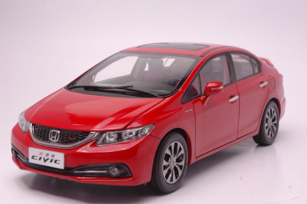 1:18 Diecast Model for Honda Civic SI 9 2014 Red Alloy Toy Car Miniature Collection Gifts MK9  (Alloy Toy Car, Diecast Scale Model Car, Collectible Model Car, Miniature Collection Die-cast Toy Vehicles Gifts)