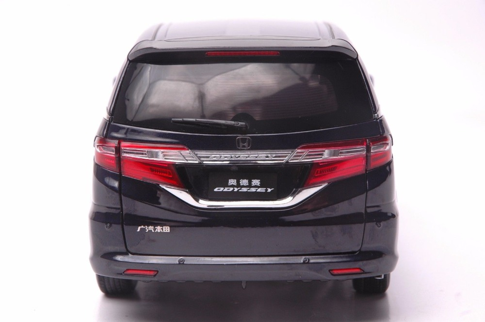 1:18 Diecast Model for Honda Odyssey 2015 Deep Blue MPV Rare Alloy Toy Car Miniature Collection Gifts Van (Alloy Toy Car, Diecast Scale Model Car, Collectible Model Car, Miniature Collection Die-cast Toy Vehicles Gifts)
