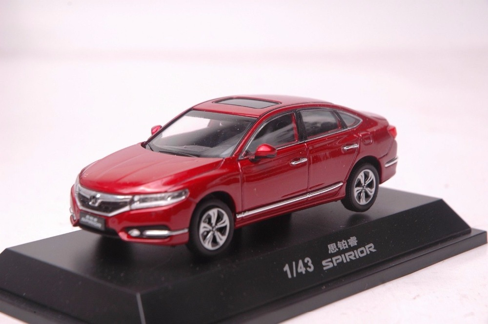 1:43 Diecast Model for Honda Spirior Accord 2016 Red Sedan Alloy Toy Car Miniature Collection Gifts (Alloy Toy Car, Diecast Scale Model Car, Collectible Model Car, Miniature Collection Die-cast Toy Vehicles Gifts)