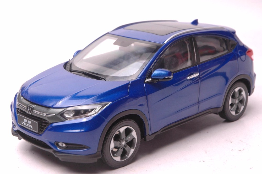1:18 Diecast Model for Honda Vezel HR-V 2014 Blue SUV (Rashes on it) Alloy Toy Car Miniature Collection Gifts HRV HR V (Alloy Toy Car, Diecast Scale Model Car, Collectible Model Car, Miniature Collection Die-cast Toy Vehicles Gifts)