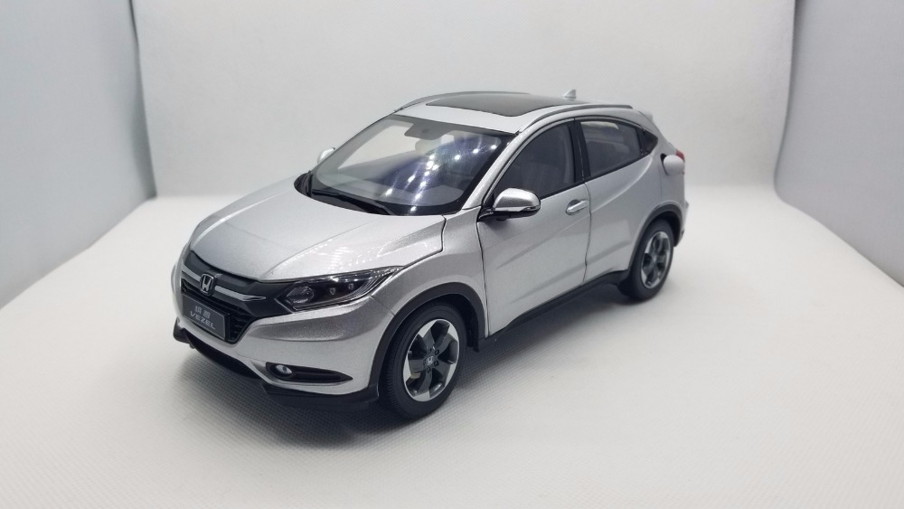 1:18 Diecast Model for Honda Vezel HR-V 2014 Silver SUV Rare Alloy Toy Car Miniature Collection Gifts HRV HR V (Alloy Toy Car, Diecast Scale Model Car, Collectible Model Car, Miniature Collection Die-cast Toy Vehicles Gifts)