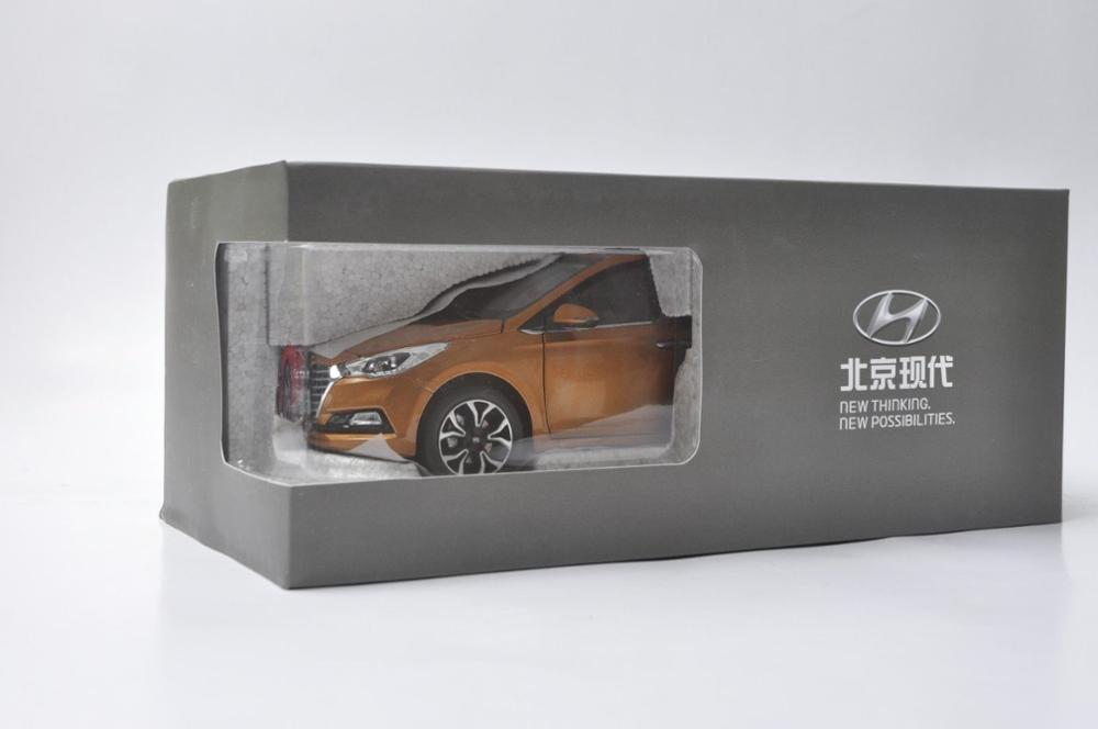 1:18 Diecast Model for Hyundai Verna Solaris 2016 Orange Alloy Toy Car Miniature Collection Gifts (Alloy Toy Car, Diecast Scale Model Car, Collectible Model Car, Miniature Collection Die-cast Toy Vehicles Gifts)