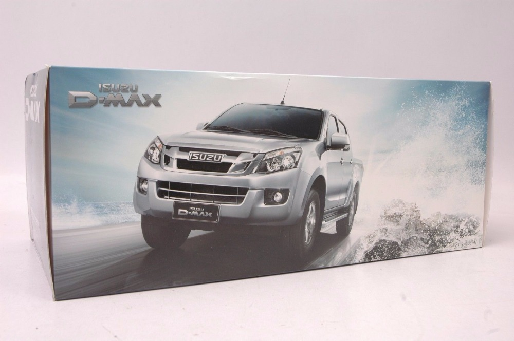 1:18 Diecast Model for ISUZU D-MAX Silver Pickup Alloy Toy Car Miniature Collection Gifts D MAX DMAX Truck (Alloy Toy Car, Diecast Scale Model Car, Collectible Model Car, Miniature Collection Die-cast Toy Vehicles Gifts)