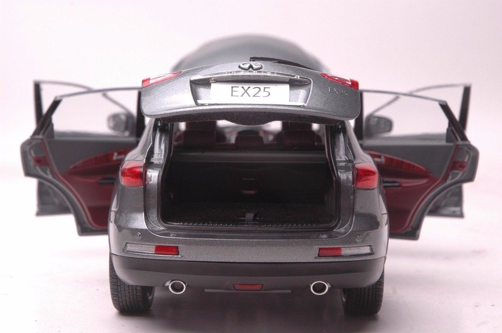 1:18 Diecast Model for Infiniti EX25 2013 Gray SUV Alloy Toy Car Miniature Collection Gift QX50 Ex (Alloy Toy Car, Diecast Scale Model Car, Collectible Model Car, Miniature Collection Die-cast Toy Vehicles Gifts)