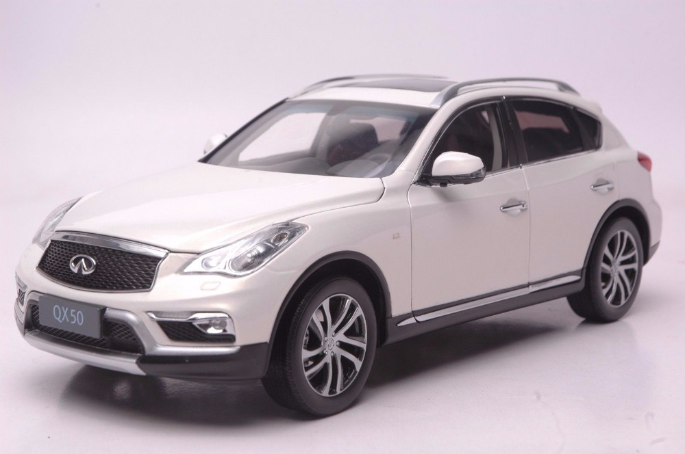 1:18 Diecast Model for Infiniti QX50 2016 White SUV Alloy Toy Car Miniature Collection Gift Ex25 Ex (Alloy Toy Car, Diecast Scale Model Car, Collectible Model Car, Miniature Collection Die-cast Toy Vehicles Gifts)