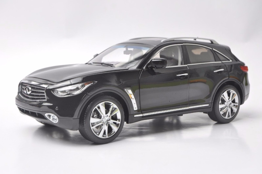1:18 Diecast Model for Infiniti QX70 2014 Black SUV Alloy Toy Car Miniature Collection Gift FX50 FX (Alloy Toy Car, Diecast Scale Model Car, Collectible Model Car, Miniature Collection Die-cast Toy Vehicles Gifts)