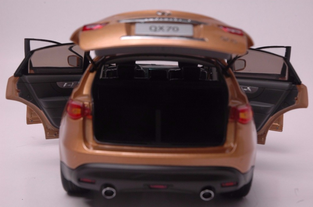 1:18 Diecast Model for Infiniti QX70 2014 Gold SUV Alloy Toy Car Miniature Collection Gift FX50 FX (Alloy Toy Car, Diecast Scale Model Car, Collectible Model Car, Miniature Collection Die-cast Toy Vehicles Gifts)
