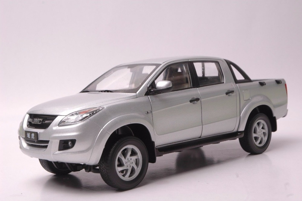1:18 Diecast Model for JMC Yuhu Silver Pickup Alloy Toy Car Miniature Collection Gift Trunk China Brand (Alloy Toy Car, Diecast Scale Model Car, Collectible Model Car, Miniature Collection Die-cast Toy Vehicles Gifts)