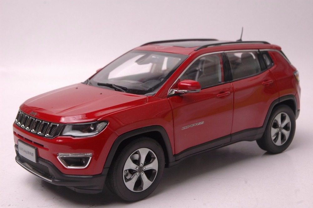 1:18 Diecast Model for Jeep COMPASS 2017 Red SUV Alloy Toy Car Miniature Collection Gift (Alloy Toy Car, Diecast Scale Model Car, Collectible Model Car, Miniature Collection Die-cast Toy Vehicles Gifts)