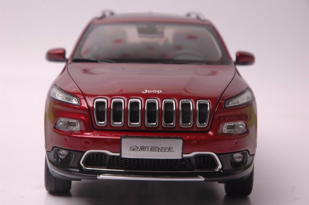 1:18 Diecast Model for Jeep Cherokee 2016 Red SUV Alloy Toy Car Miniature Collection Gift (Alloy Toy Car, Diecast Scale Model Car, Collectible Model Car, Miniature Collection Die-cast Toy Vehicles Gifts)