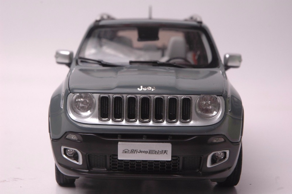 1:18 Diecast Model for Jeep Renegade 2016 Gray SUV Alloy Toy Car Miniature Collection Gift (Alloy Toy Car, Diecast Scale Model Car, Collectible Model Car, Miniature Collection Die-cast Toy Vehicles Gifts)