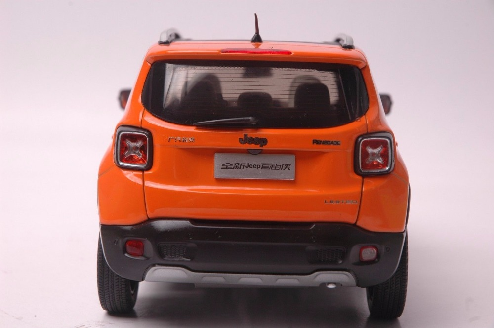 1:18 Diecast Model for Jeep Renegade 2016 Orange SUV Alloy Toy Car Miniature Collection Gift (Alloy Toy Car, Diecast Scale Model Car, Collectible Model Car, Miniature Collection Die-cast Toy Vehicles Gifts)