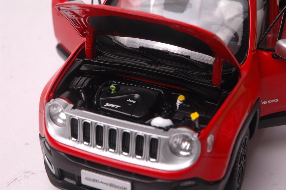 1:18 Diecast Model for Jeep Renegade 2016 Red SUV Alloy Toy Car Miniature Collection Gift (Alloy Toy Car, Diecast Scale Model Car, Collectible Model Car, Miniature Collection Die-cast Toy Vehicles Gifts)