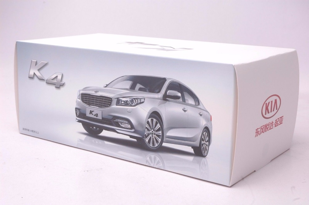 1:18 Diecast Model for Kia K4 2014 White Sedan Alloy Toy Car Miniature Collection Gifts Cerato (Alloy Toy Car, Diecast Scale Model Car, Collectible Model Car, Miniature Collection Die-cast Toy Vehicles Gifts)