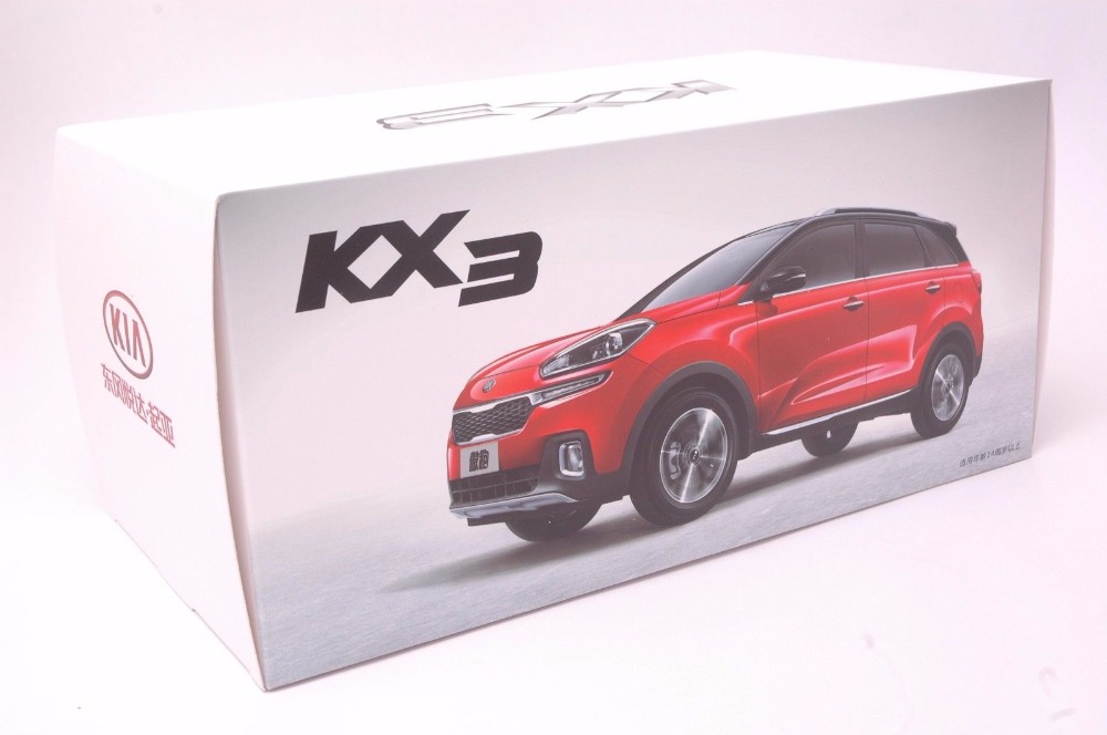 1:18 Diecast Model for Kia KX3 2016 White SUV Alloy Toy Car Miniature Collection Gifts (Alloy Toy Car, Diecast Scale Model Car, Collectible Model Car, Miniature Collection Die-cast Toy Vehicles Gifts)