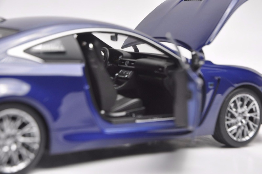 1:18 Diecast Model for Lexus RCF Blue Coupe Alloy Toy Car Miniature Collection Gift RC F (Alloy Toy Car, Diecast Scale Model Car, Collectible Model Car, Miniature Collection Die-cast Toy Vehicles Gifts)
