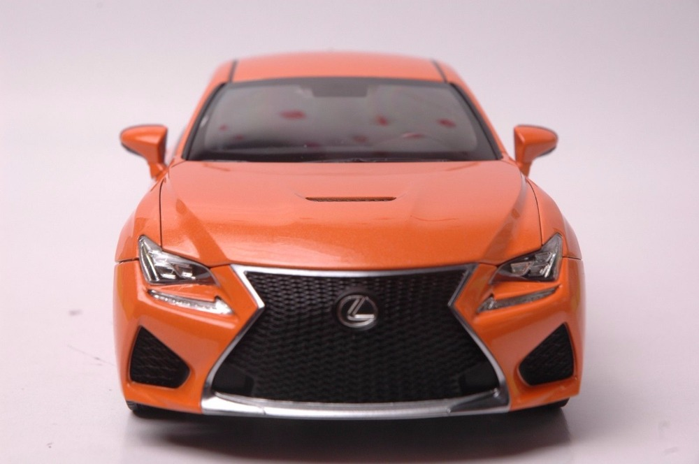 1:18 Diecast Model for Lexus RCF Orange Coupe Alloy Toy Car Miniature Collection Gift RC F (Alloy Toy Car, Diecast Scale Model Car, Collectible Model Car, Miniature Collection Die-cast Toy Vehicles Gifts)